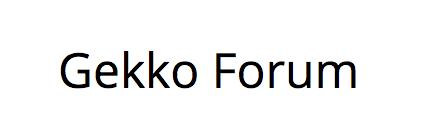 Gekko Forum